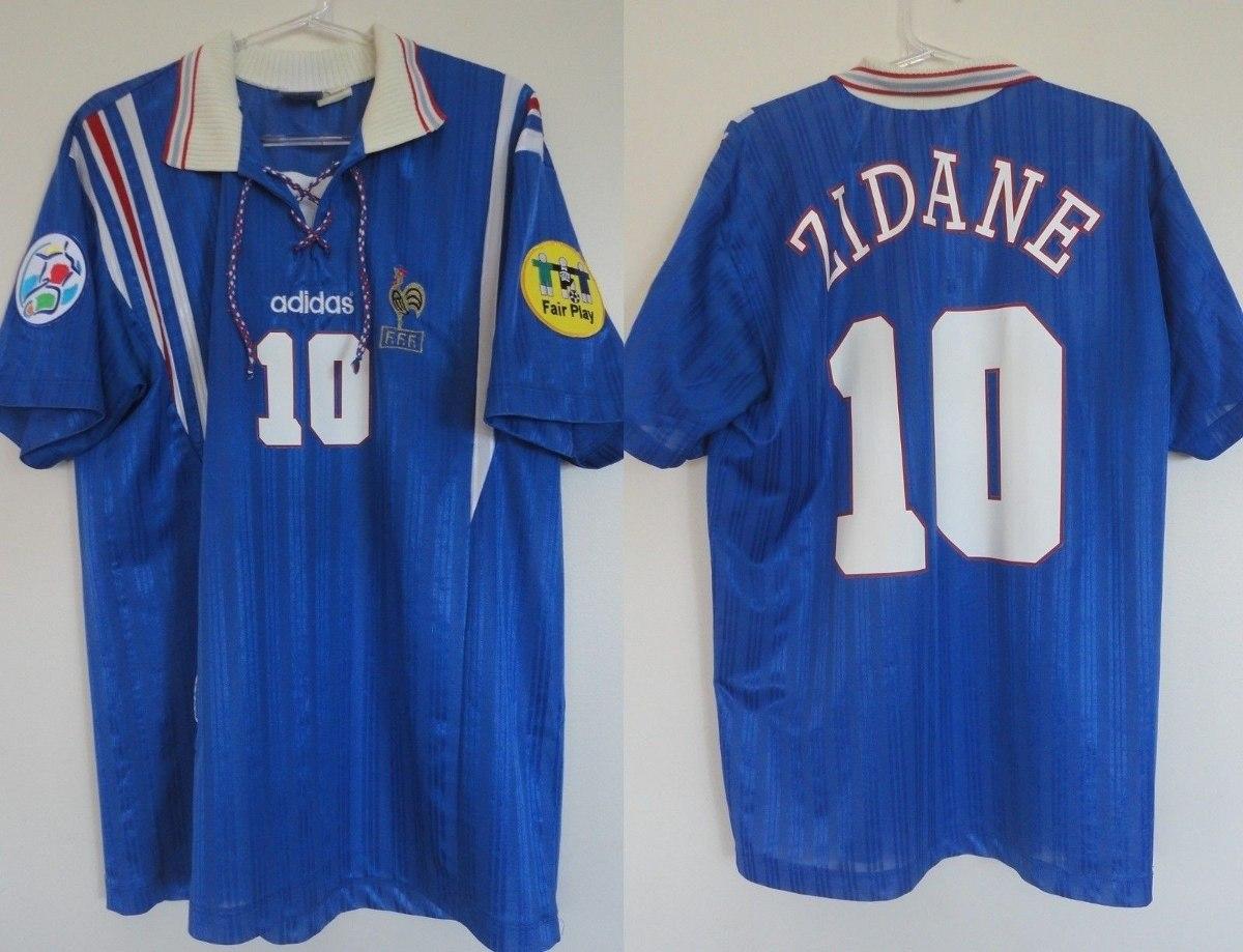 camisa frança euro 1996 inglaterra adidas zidane  10 patches. Carregando  zoom. ca2c1d92184ce
