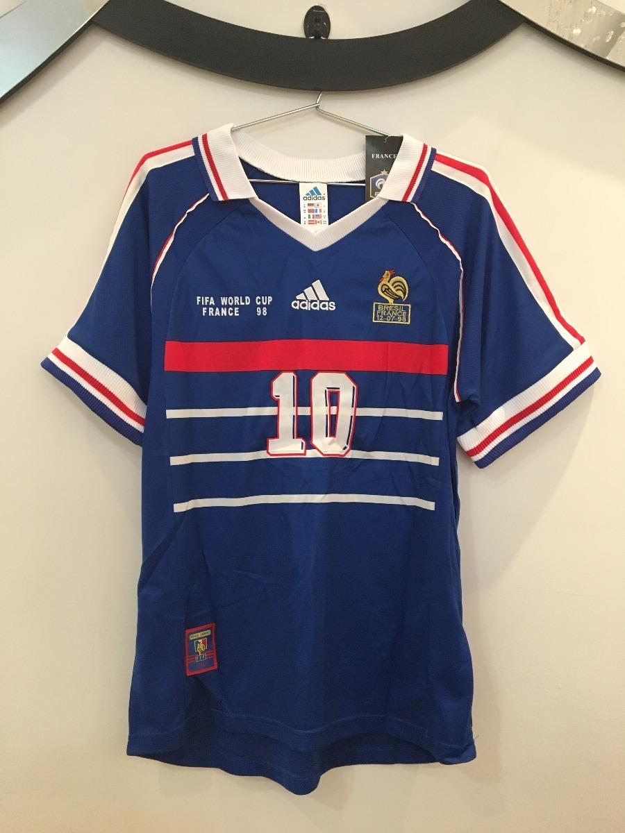 24a46f5970 camisa frança - final copa 1998 -  10 zidane -pronta entrega. Carregando  zoom.