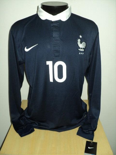 e2ef976670 Camisa França Home 14-15 Manga Longa Benzema 10 Importada - R  159 ...
