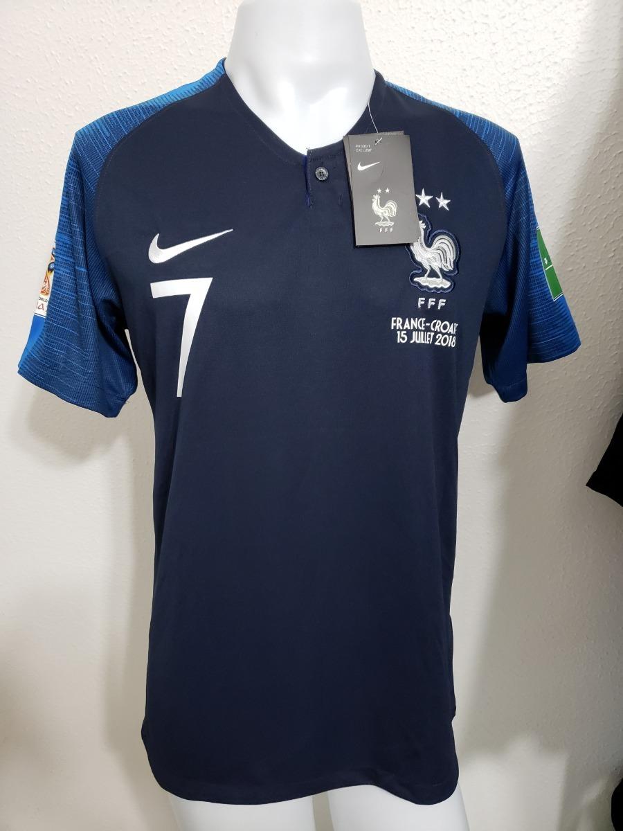 camisa frança home 18-19 griezmann 7 final copa do mundo. Carregando zoom. fa3559e7bb7ea