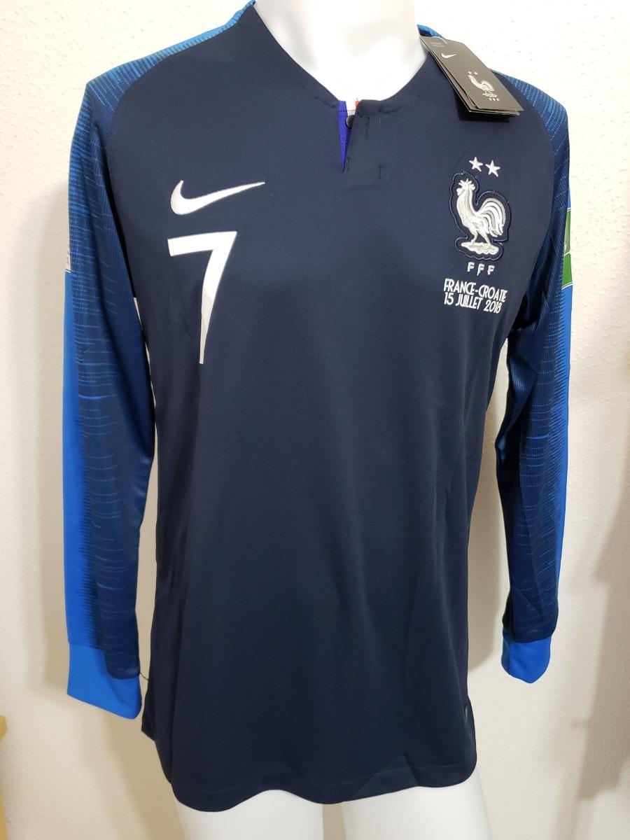 897db5939ecef Camisa França Home 18-19 Manga Longa Griezmann 7 Final Copa - R  250 ...