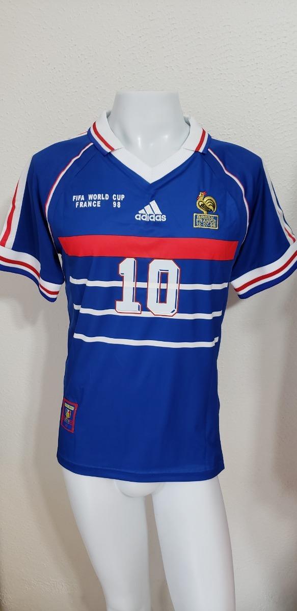 camisa frança home 98-99 zidane 10 final copa do mundo 1998. Carregando zoom . 40cbb48fc4257