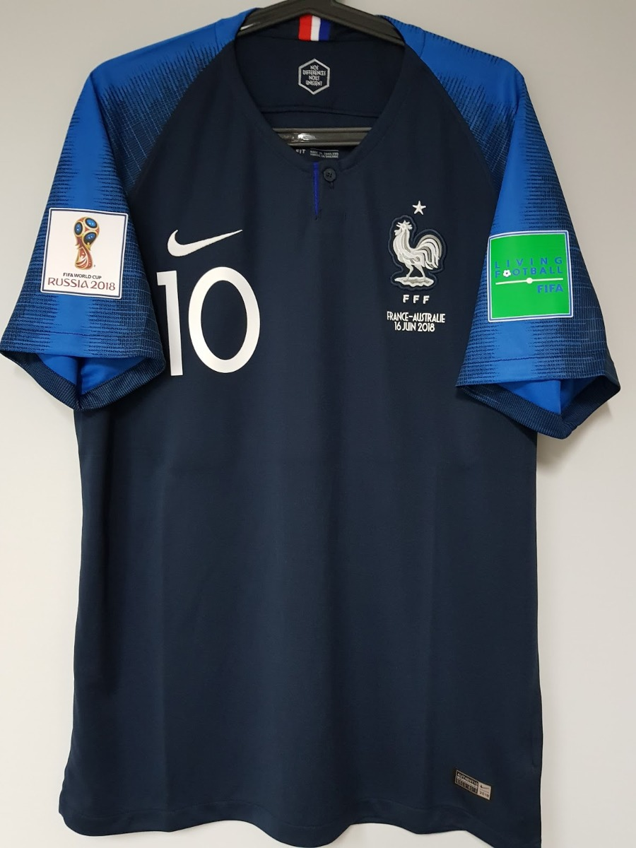 bfc1b31f4 Camisa França Mbappe   10 Copa Do Mundo 2018 - R  144