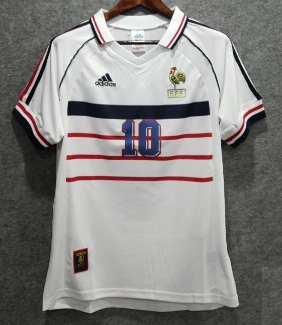 Camisa França Retro 1998 Zidane   10 - R  139 c437df287f335