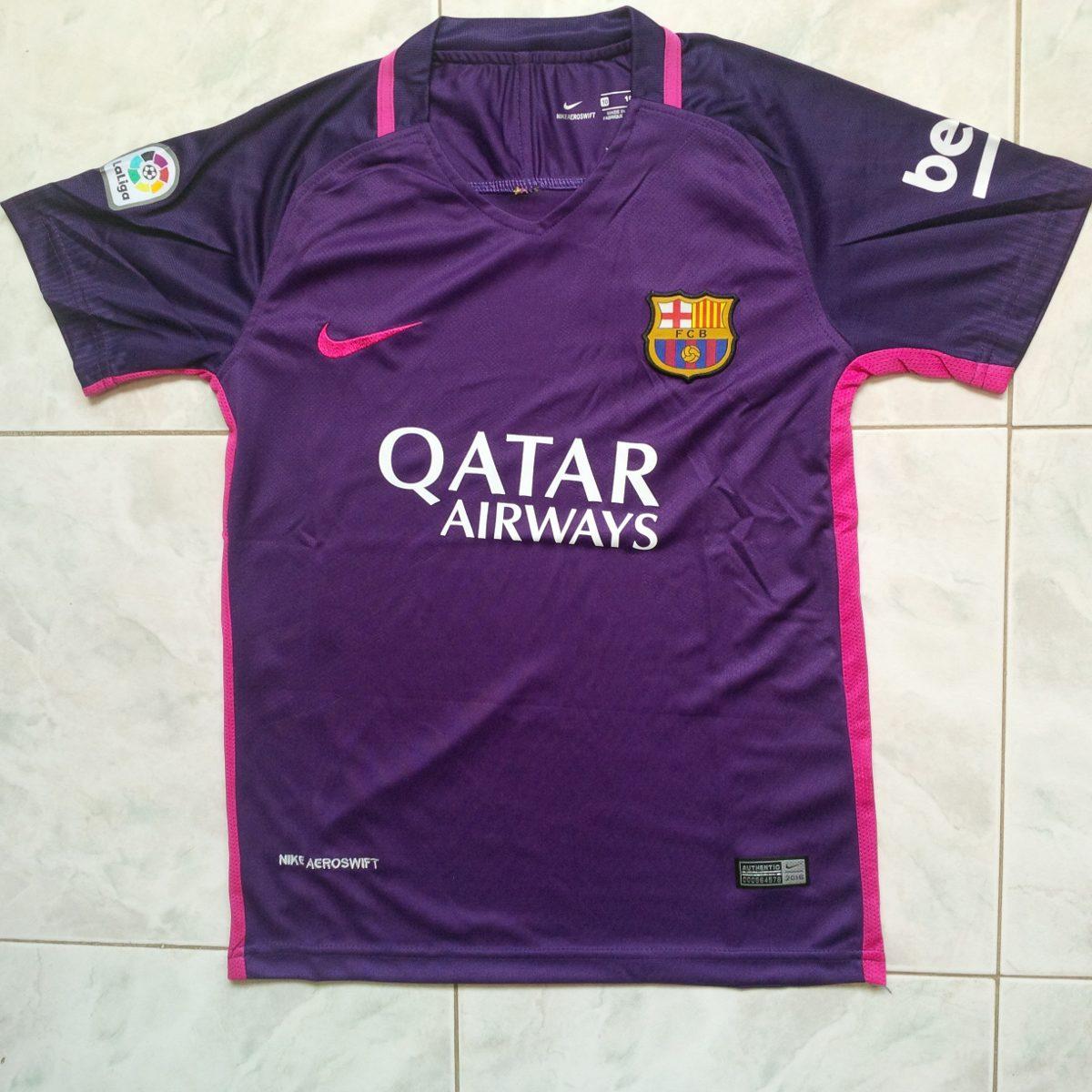 camisa franela barcelona fc 2017 purpura morada solo niños. Cargando zoom. a7a2ea87363