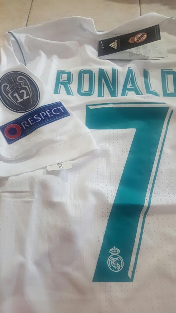 Camisa Futbol Jersey Real Madrid adidas 7 Cristiano Ronaldo ... fc9a75dfd2ed2