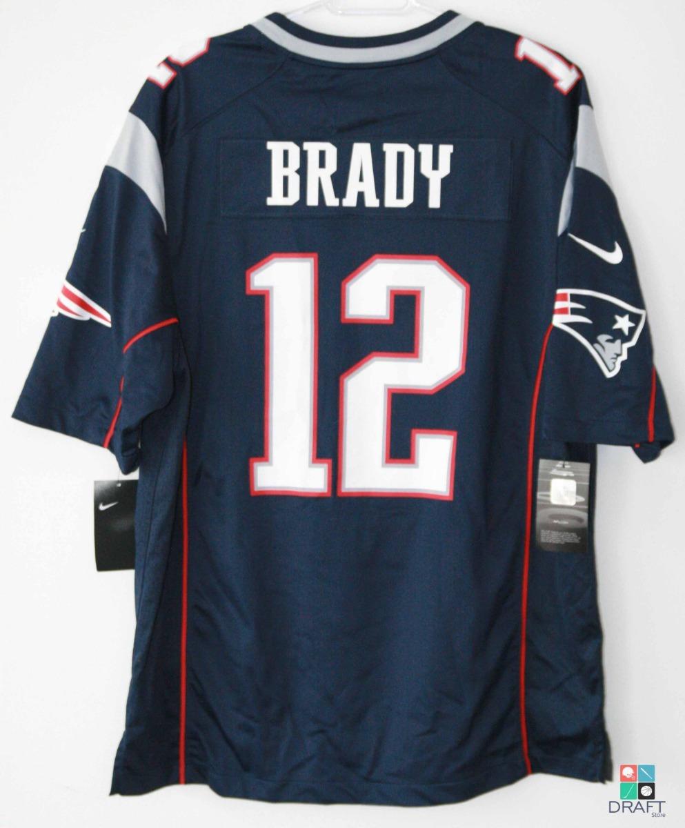 camisa futebol americano nfl tom brady patriots nike jersey. Carregando  zoom. 6af02f835a691