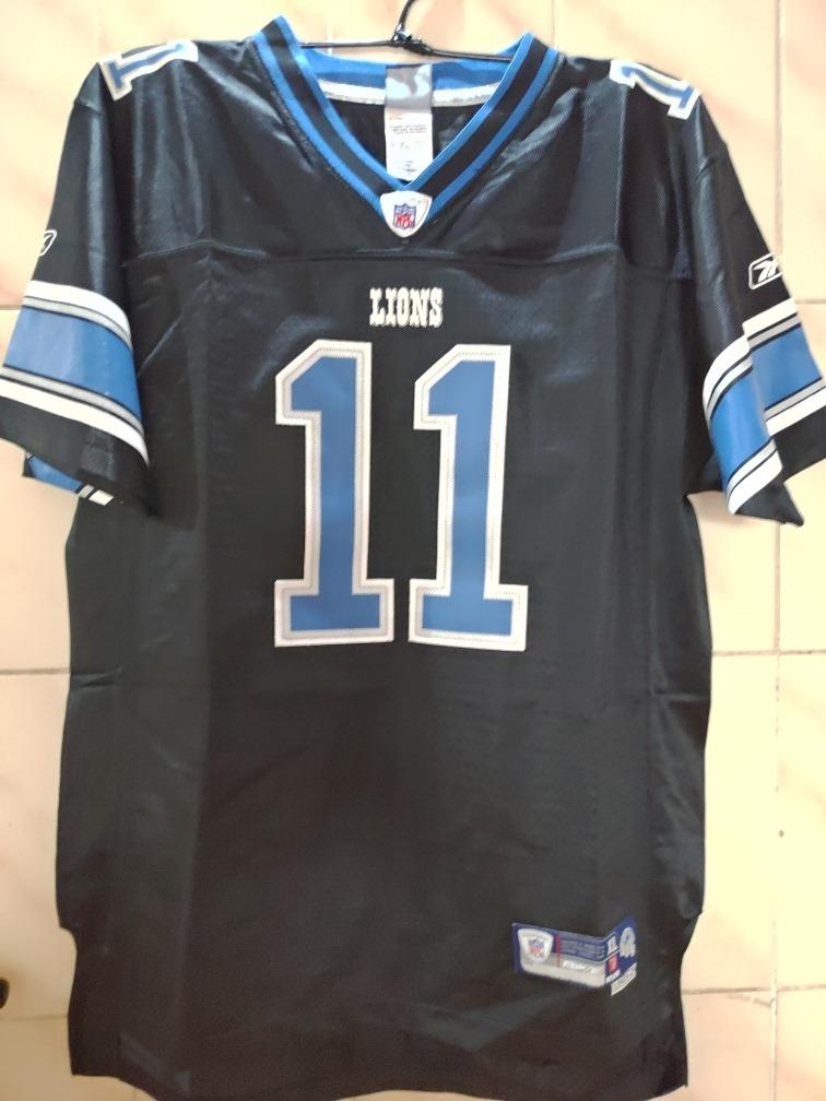 bfa52a24e3f69 camisa futebol americano reebok lions tamanho youth xl. Carregando zoom.