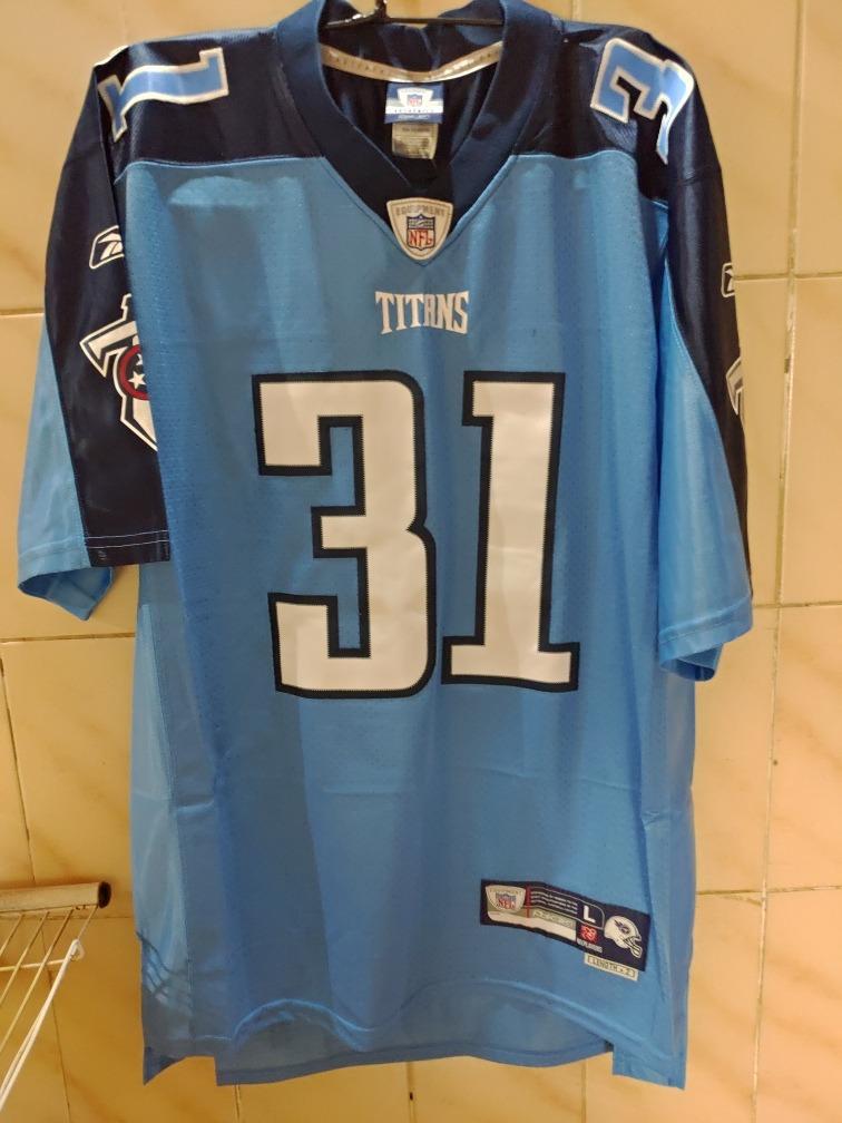 camisa futebol americano reebok titans tamanho l. Carregando zoom. 0624f33fd9dd5