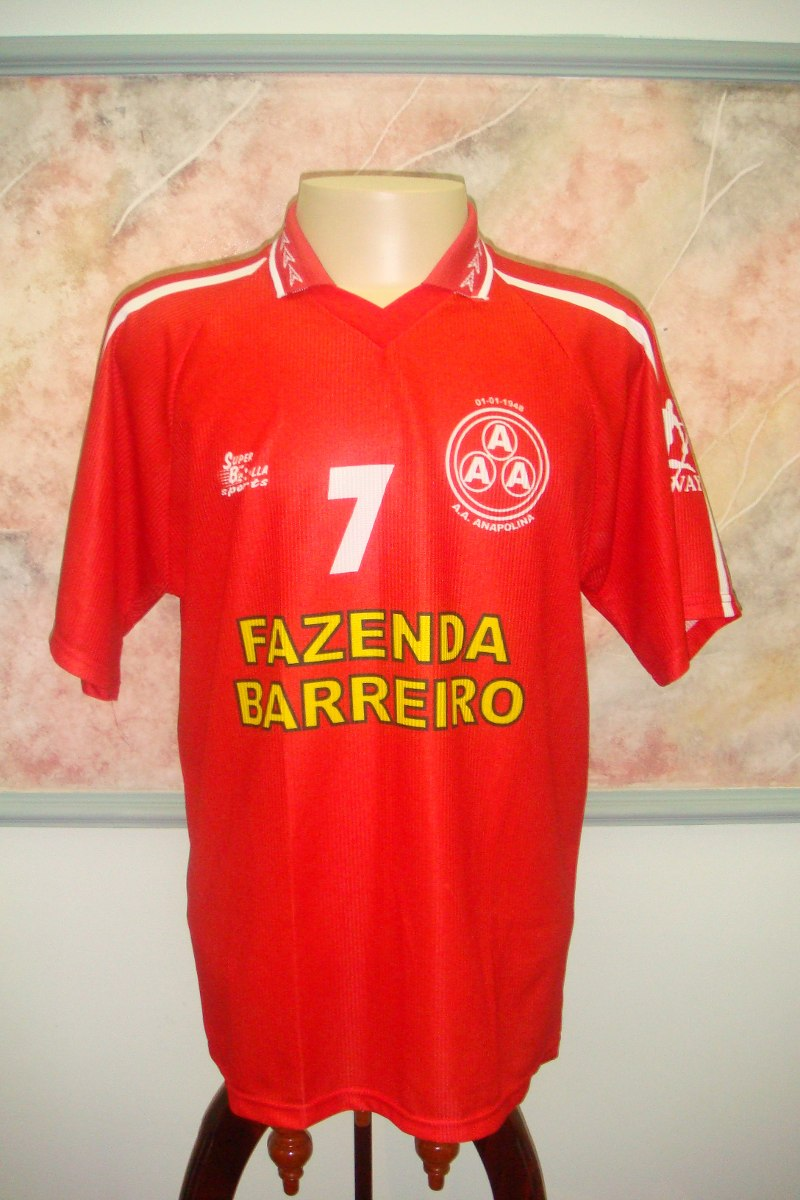 Camisa Futebol Anapolina Anapolis Go Super Bolla Jogo 1157 - R  399 ... 8e4140c84ab67