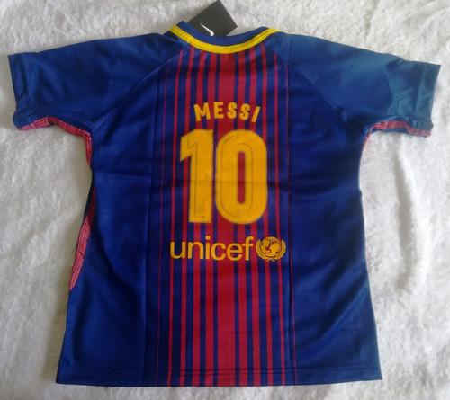 25f15c89980c4 camisa futebol barcelona home infantil 2017 18 - messi 10. Carregando  zoom... camisa futebol barcelona