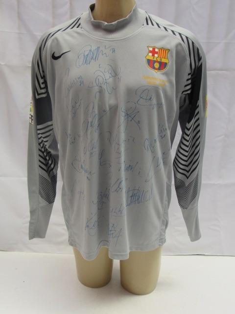 Camisa Futebol Barcelona Espanha Goleiro  1 Victor Valdes T - R  379 ... b5f08e5692d40