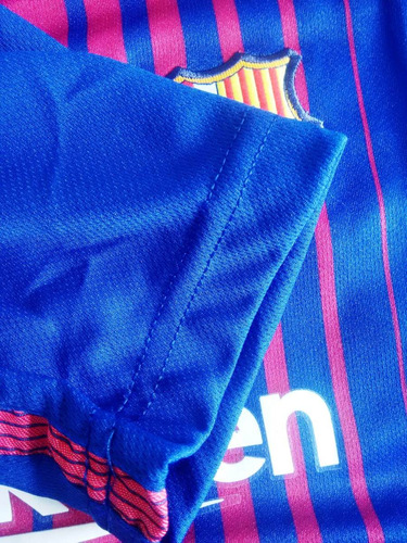 cbc274cba316f Camisa Futebol Barcelona Home Infantil 2017 18 - Messi 10 - R  95