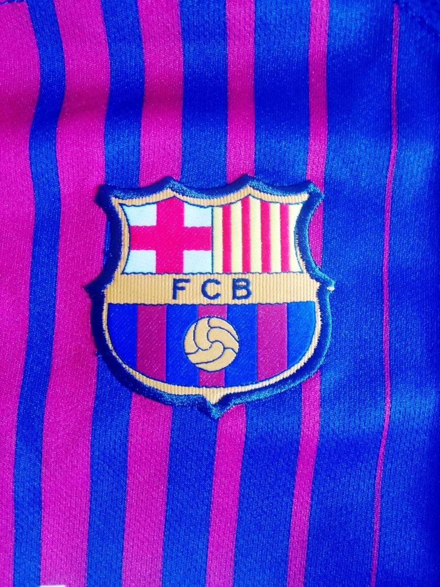 f1d91c1cf2356 camisa futebol barcelona home infantil 2017 18 - messi 10. Carregando zoom.
