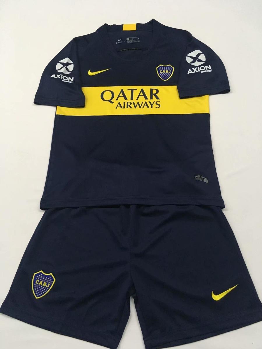 ed78c7217a Conjunto Infantil Camisa Shorts Futebol Boca Juniors 2018 - R  154 ...