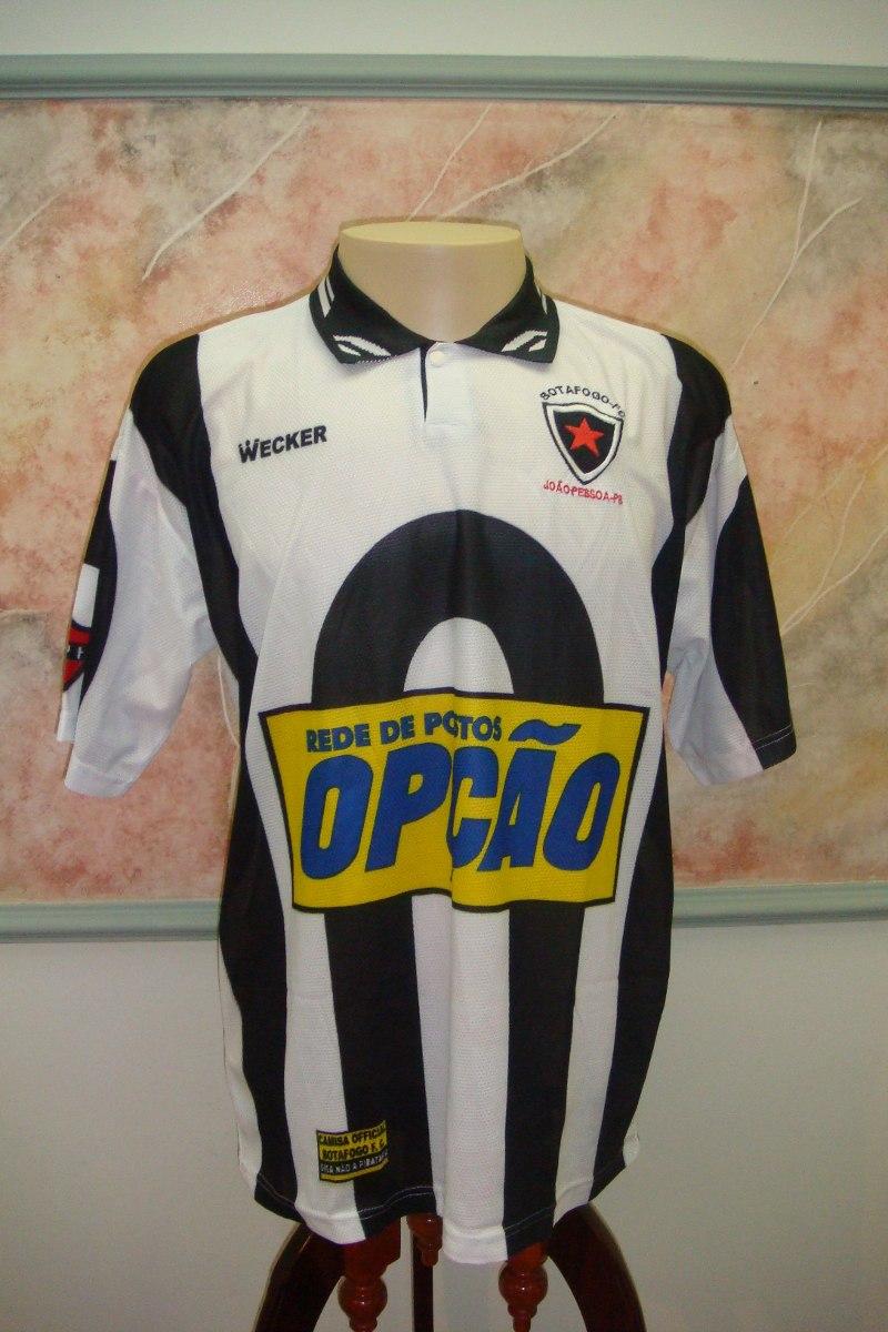 camisa futebol botafogo joão pessoa pb wecker antiga 1086. Carregando zoom. b6fc663f2e244