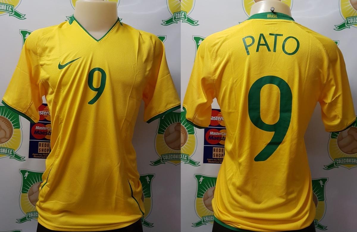 camisa futebol brasil cbf olimpiadas 2008 de jogo   9 pato. Carregando zoom. 63578fc6a34c5