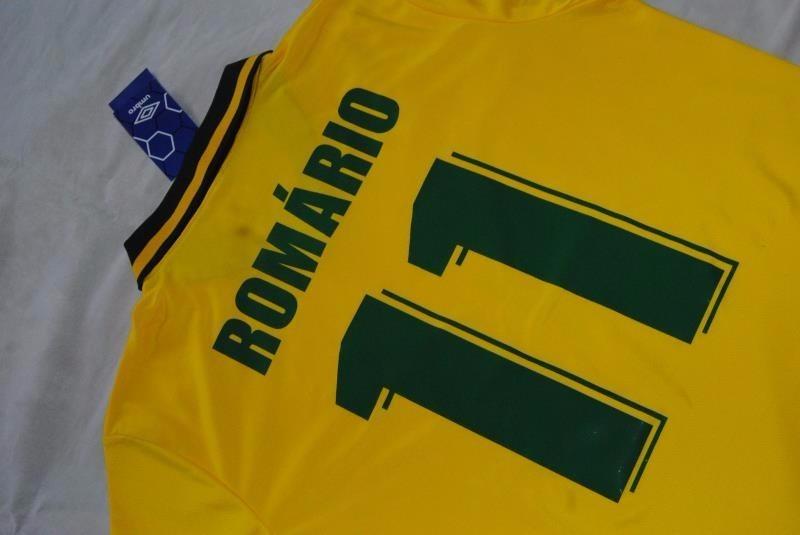 a21c471136 camisa futebol brasil romario #11 copa 1994 tetra campeão. Carregando zoom.