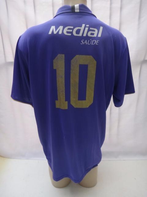 Camisa De Futebol Do Corinthians 2008 Roxa Medial Nike   10 - R  129 ... 9649cb9b32b2e