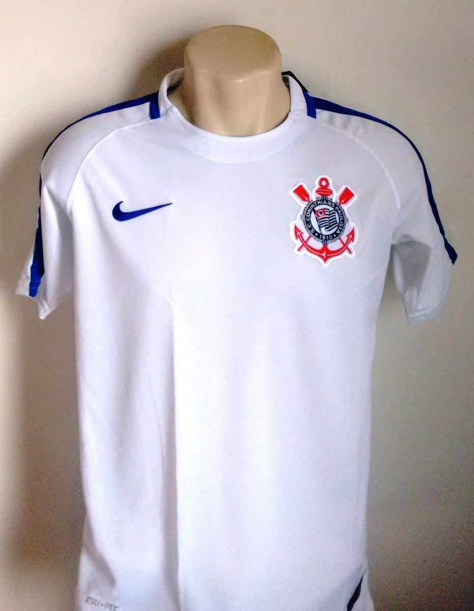 camisa futebol corinthians de treino branca 2017 18. Carregando zoom. a84ff7534b31f