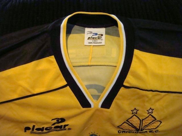 f814355bd2 Camisa Futebol Criciuma Placar Jogo Antiga 2074 - R  449