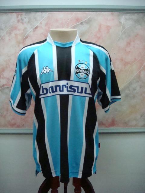 b202ed2f53247 Camisa Futebol Gremio Porto Alegre Kappa Banrisul Jogo 2248 - R  699 ...