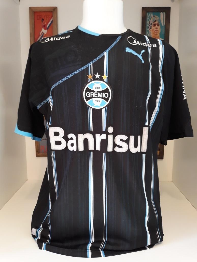 aa4df0b5ed192 camisa futebol gremio puma preta. Carregando zoom.