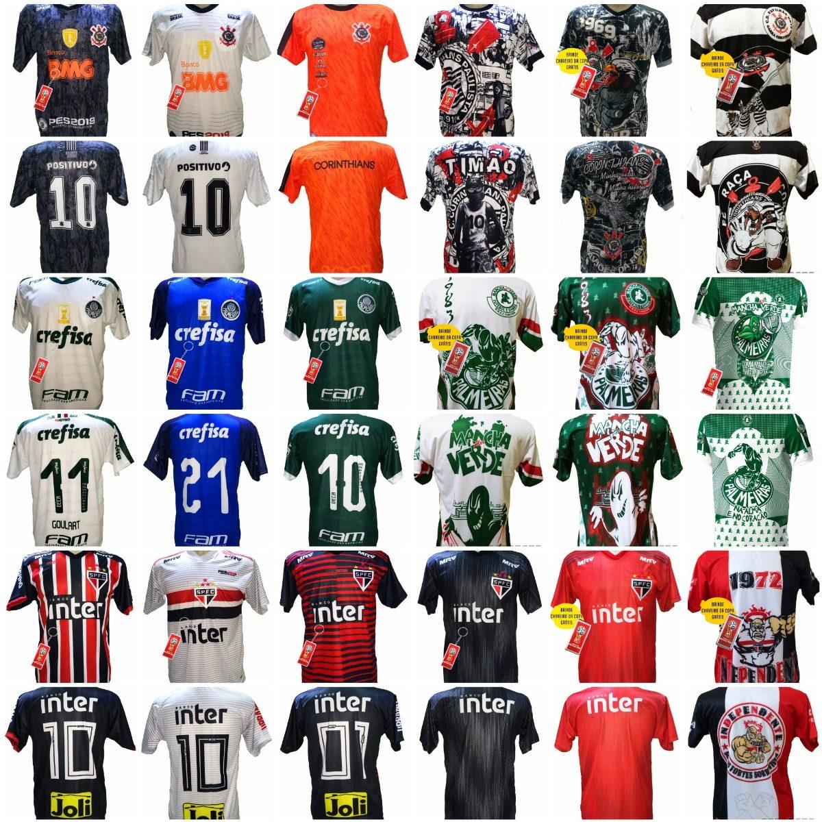 Camisa Futebol Kit 5 Unidades Por 149 80caeb4642f59