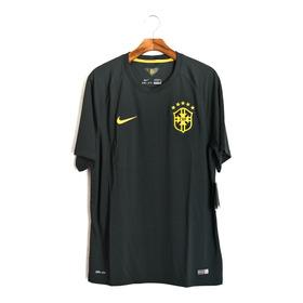 Camisa Futebol Masculino Seleção Brasileira Nike Black Green