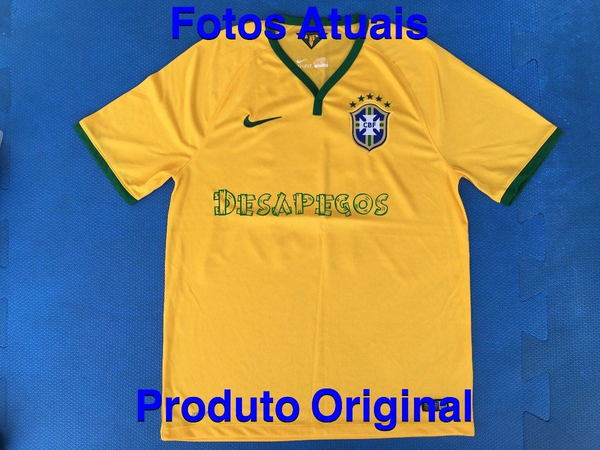 353d46bb0bbd5 camisa futebol oficial seleção brasil original nike. Carregando zoom.