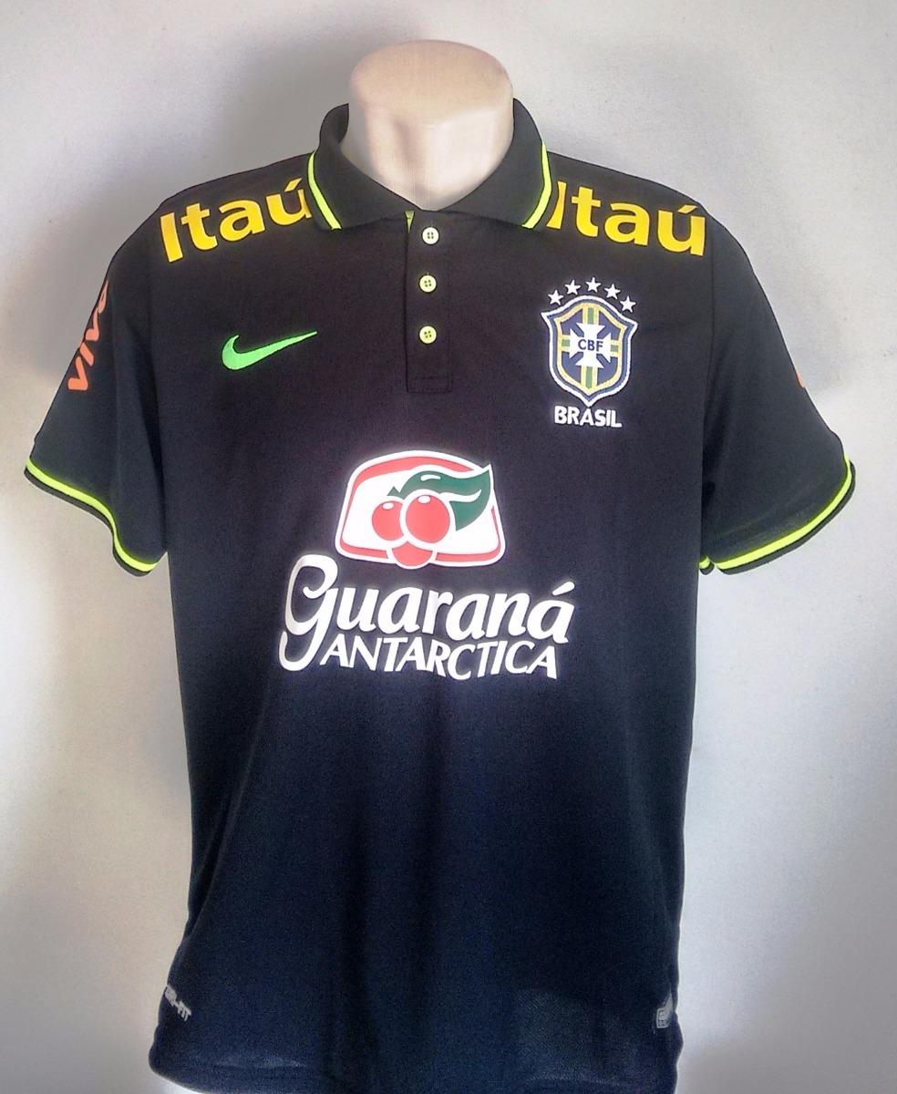 8471638b7f3ae camisa futebol polo brasil preta 2018 19. Carregando zoom.