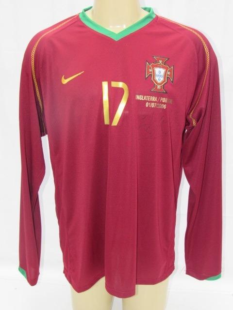 Camisa Futebol Portugal  17 C. Ronaldo Copa 06 Manga Longa - R  189 ... 3ba41fafa6ccf