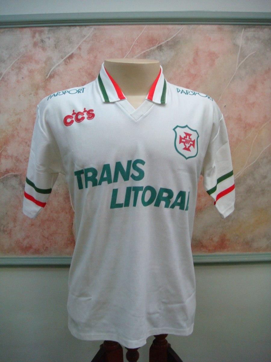 camisa futebol portuguesa santos sp ccs jogo antiga 1527. Carregando zoom. d2b623e3966a0