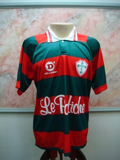 9f5aac4f81 Camisa Futebol Portuguesa São Paulo Sp Dellerba Jogo 1802 - R  598 ...