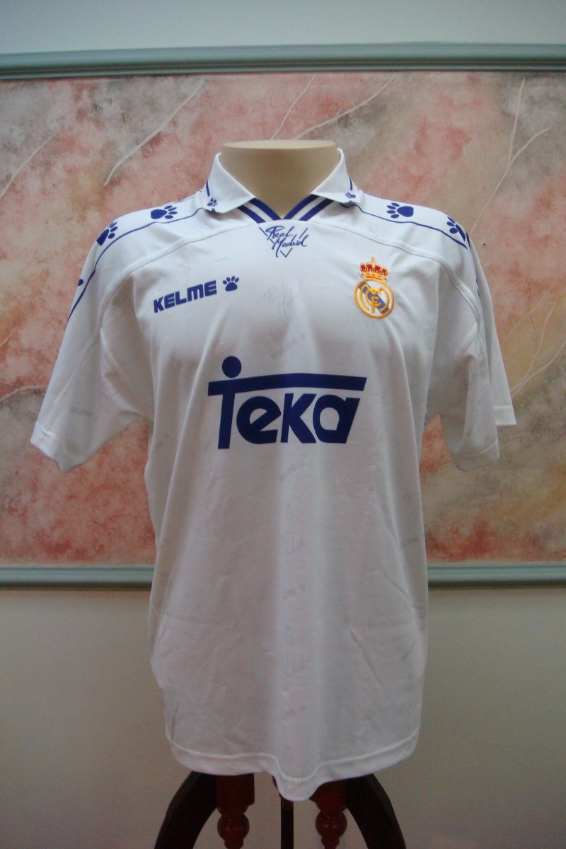 95052e2cec camisa futebol real madrid espanha kelme antiga 789. Carregando zoom.