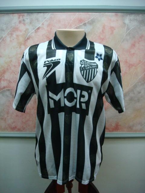Camisa Futebol Santa Cruz Sul Rs Poker Jogo Antiga 1817 - R  399 5eb5922d85e34
