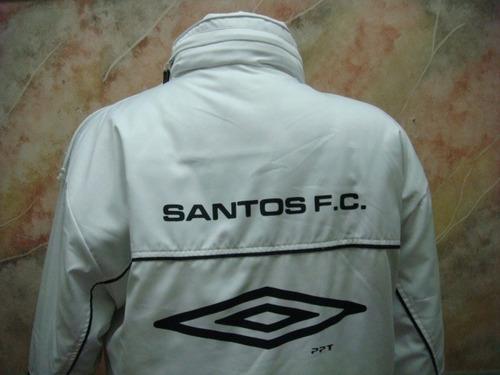 camisa futebol santos f.c. blusão inverno umbro antigo s-106