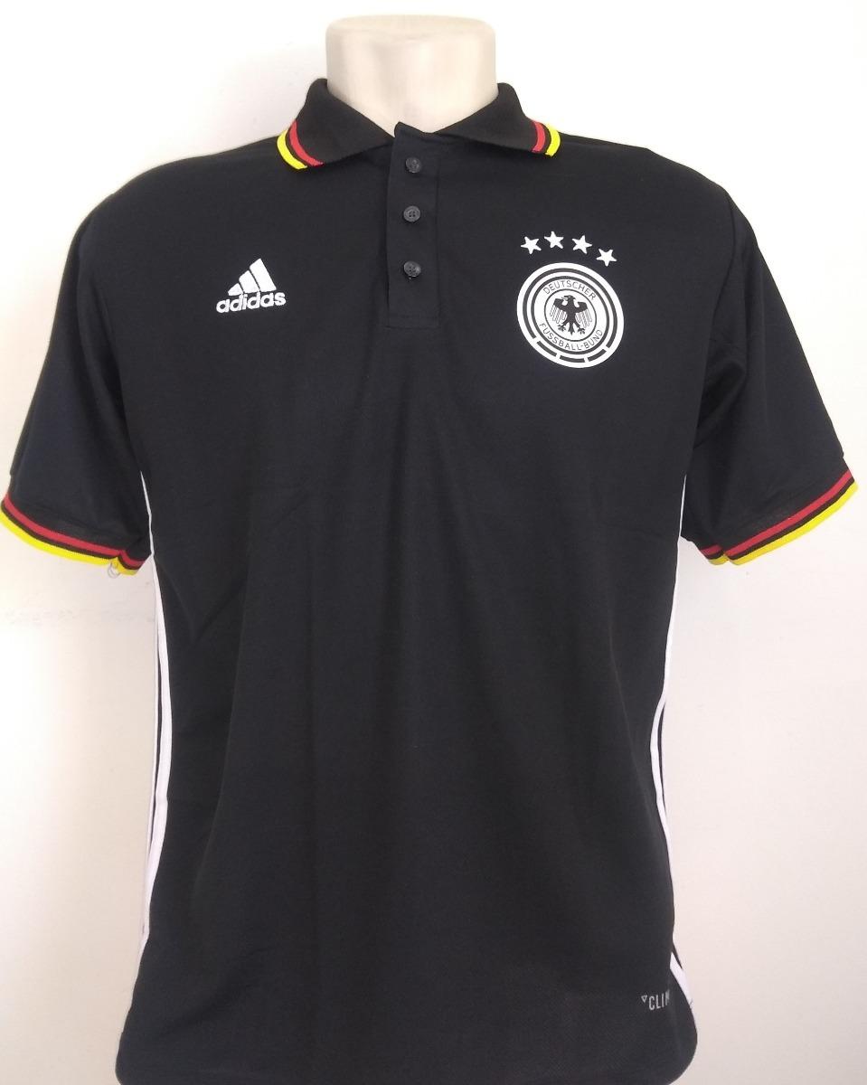 8f9026bc60 camisa futebol seleção alemanha polo preta 2018 19. Carregando zoom.