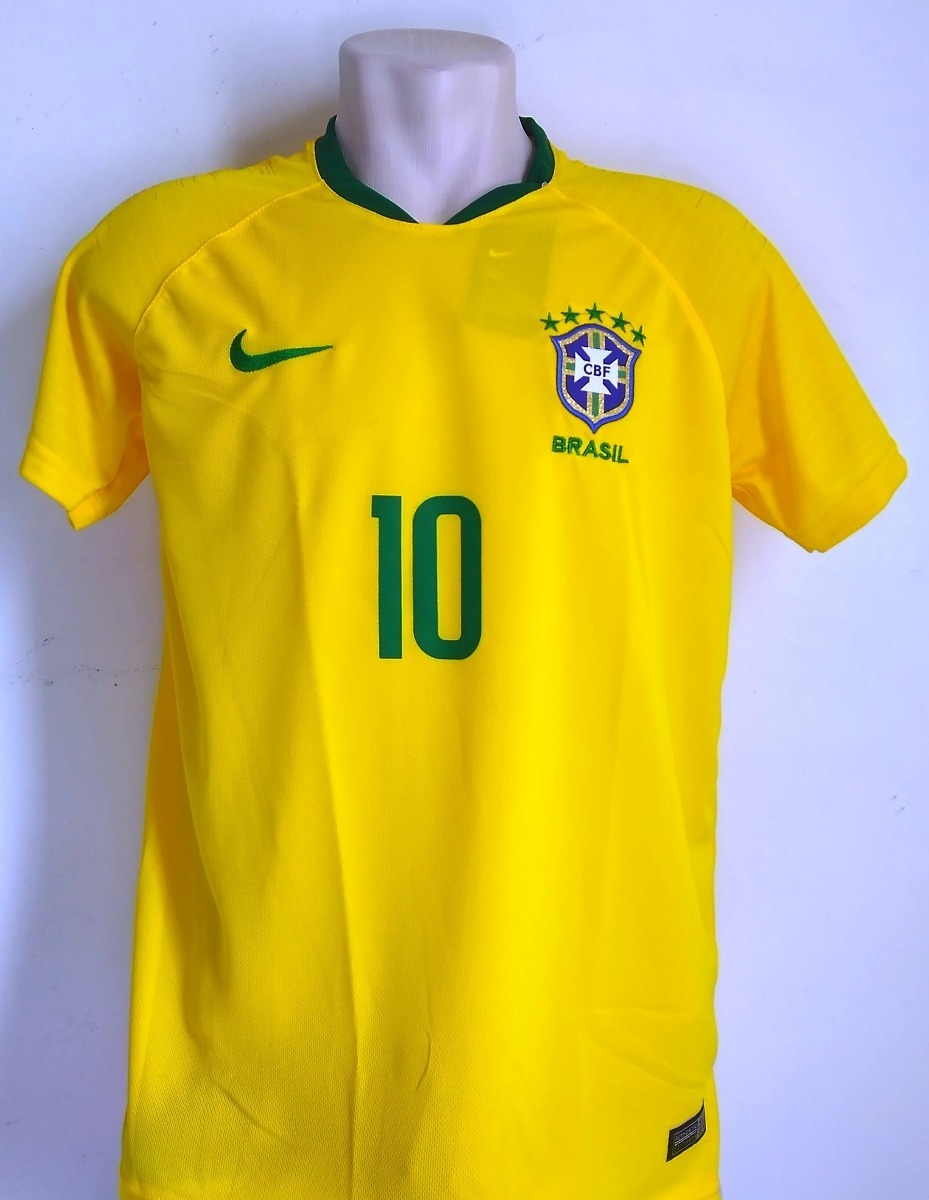 Camisa Futebol Seleção Brasil Home 2018 19 - Neymar Jr. 10 - R  60 ... 200cd15aa85a1