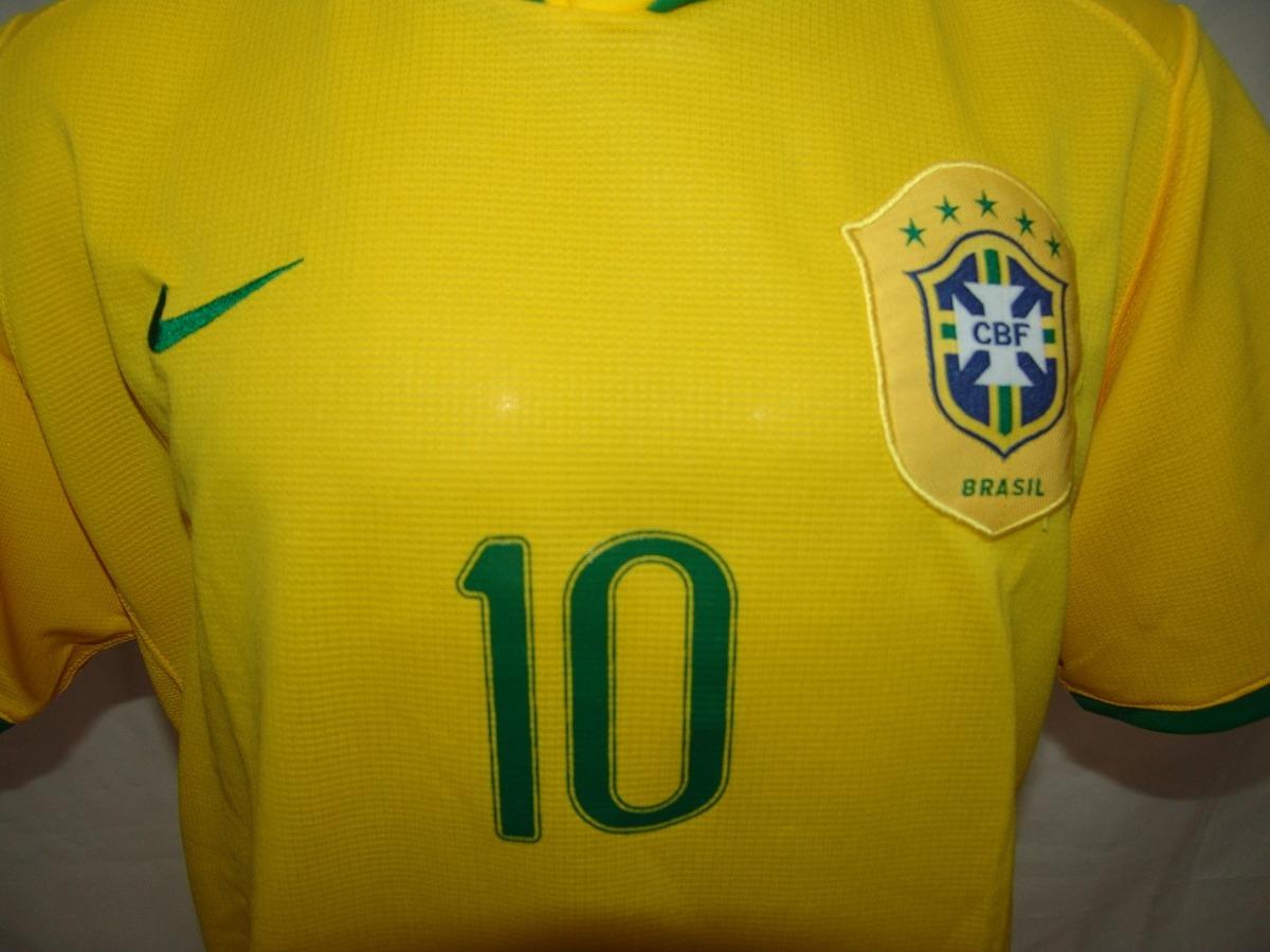 b7a3f86454 camisa futebol seleção brasileira 2006   10 ronaldinho nike. Carregando zoom .