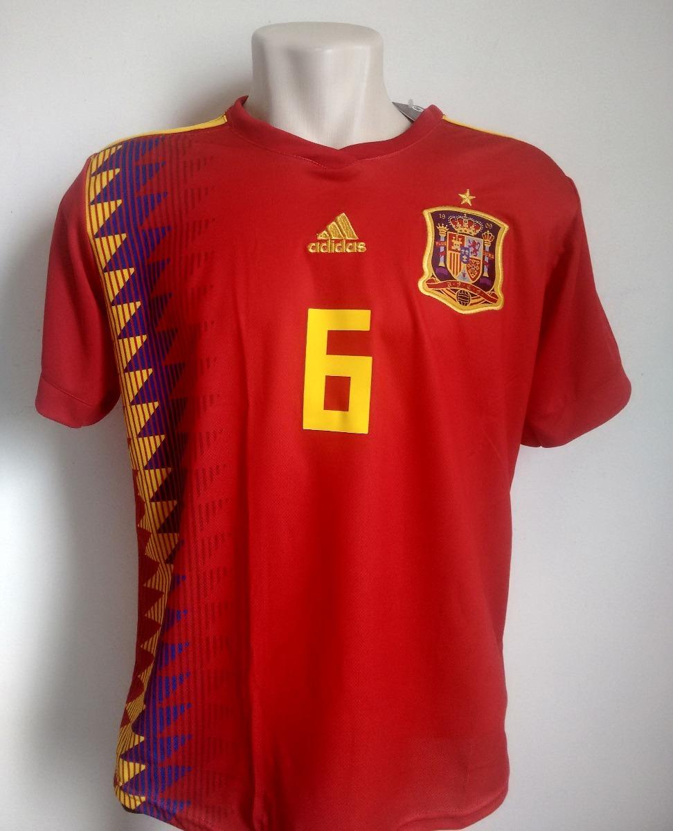 Camisa Futebol Seleção Espanha Home 2018 19 - Iniesta 6 - R  95 52704283db8c1
