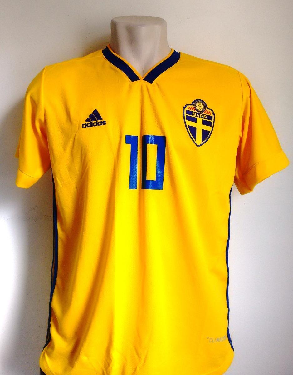 camisa futebol seleção suécia home 2018 19 - ibrahimovic 10. Carregando  zoom. 9afb7ad3b3635