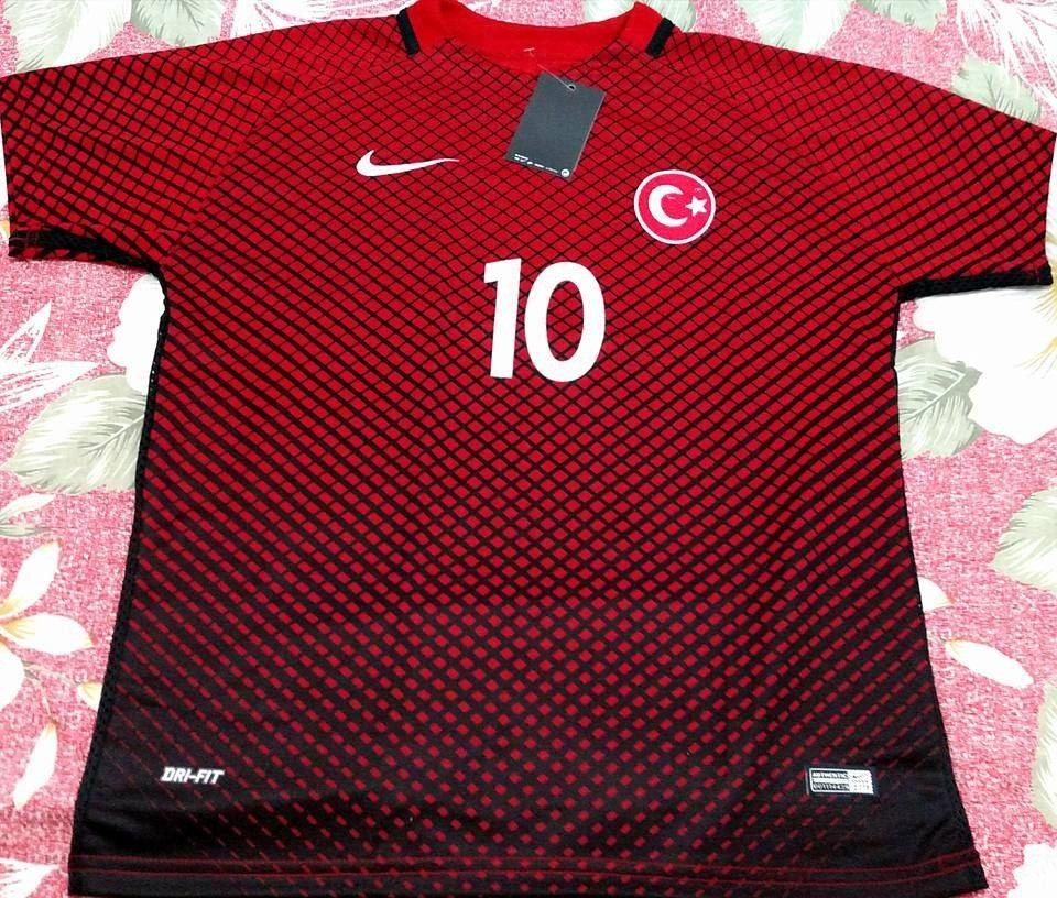 camisa futebol seleção turquia vermelha - turan 10 euro 2016. Carregando  zoom. 80070b3f70167
