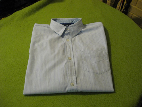 camisa gap talla m manga larga color celeste