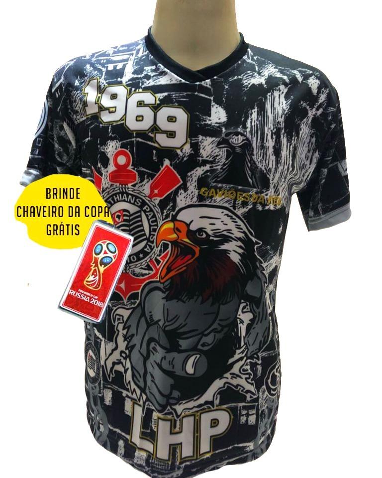 501dcc9dd89cb5 Camisa Gaviões Da Fiel Corinthians Favela Preto Cinza 2019 - R$ 29 ...