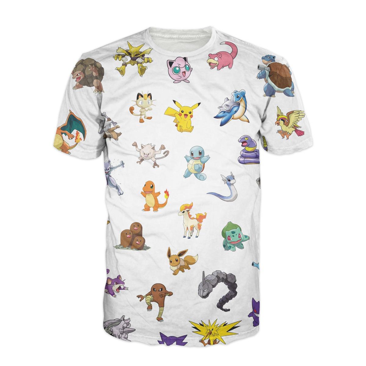 5d78d1b090 Camisa Geek Pokemon - Camiseta Nerd Anime Pikachu Desenho - R  74