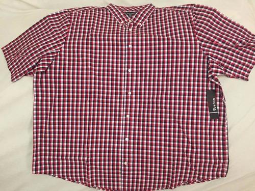 camisa george, 3xl $490.00 cuadros rojo/negro (tallas extra)