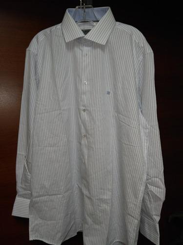 camisa givenchy rallas  manga larga talla 17 34/35100%algodo