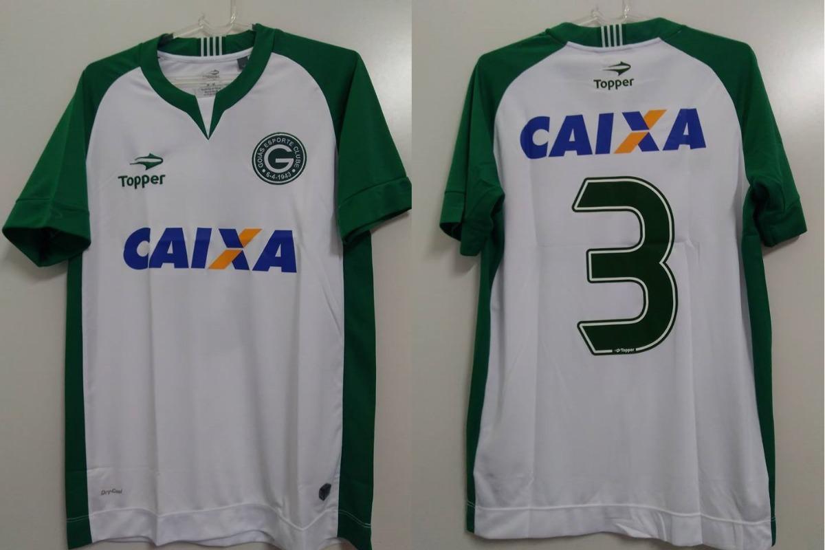 Camisa Goias Uniforme Ii Oficial Topper N° 3 - 2017   2018 - R  139 ... 45496ef923f56