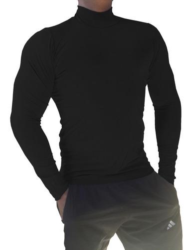 camisa gola alta camiseta segunda pele básica manga longa